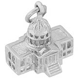 Sterling Silver Capitol Building Charm by Rembrandt Charms