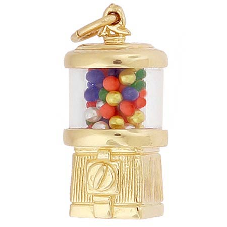 14k Gold Gumball Machine Charm by Rembrandt Charms
