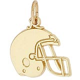 Gold Plated Football Helmet Charm by Rembrandt Charms