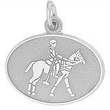 14K White Gold Polo Charm by Rembrandt Charms