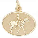 14K Gold Polo Charm by Rembrandt Charms