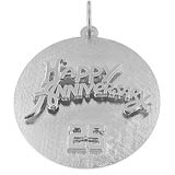 14K White Gold Anniversary Disc Charm by Rembrandt Charms