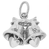 14K White Gold Wedding Bells Charm by Rembrandt Charms