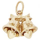 10K Gold Wedding Bells Charm by Rembrandt Charms