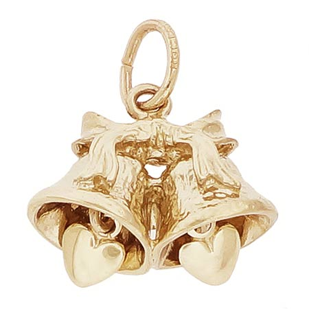 14k Gold Wedding Bells Charm by Rembrandt Charms