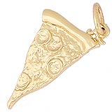 14k Gold Slice of Pizza Charm by Rembrandt Charms