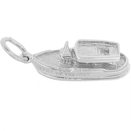 14K White Gold Maid of the Mist Charm by Rembrandt Charms