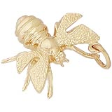 Gold Plate Bee Charm by Rembrandt Charms