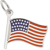 Sterling Silver USA Flag Charm by Rembrandt Charms