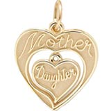 14k Gold Mother & Daughter Charm by Rembrandt Charms