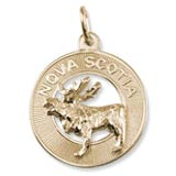 10K Gold Nova Scotia Moose Ring Charm by Rembrandt Charms