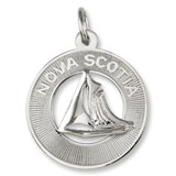Sterling Silver Nova Scotia Sailboat Ring Charm by Rembrandt Charms