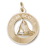 10K Gold Nova Scotia Sailboat Ring Charm by Rembrandt Charms
