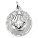 14K White Gold Nova Scotia Shell Ring Charm by Rembrandt Charms