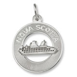 14K White Gold Nova Scotia Cruise Ship Charm by Rembrandt Charms