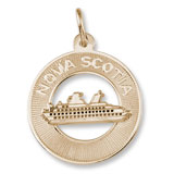 14K Gold Nova Scotia Cruise Ship Charm by Rembrandt Charms