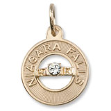 14K Gold Niagara Falls Wedding Charm by Rembrandt Charms