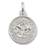 Sterling Silver Niagara Falls Maple Leaf Charm by Rembrandt Charms