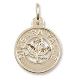 14K Gold Niagara Falls Maple Leaf Charm by Rembrandt Charms