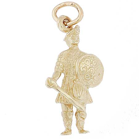 14k Gold Scott Warrior Charm by Rembrandt Charms
