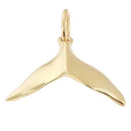 14k Gold Humpback Whale Tail Charm by Rembrandt Charms
