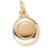 Gold Plated Frisbee Charm by Rembrandt Charms