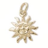 10K Gold Small Sunshine Charm by Rembrandt Charms