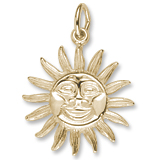 10K Gold Sunburst Charm by Rembrandt Charms
