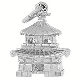 Sterling Silver Oriental Temple Charm by Rembrandt Charms