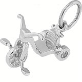 14k White Gold Tricycle Charm by Rembrandt Charms