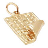 Gold Plated Quilt Blanket Charm by Rembrandt Charms