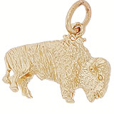 14K Gold Buffalo Charm by Rembrandt Charms
