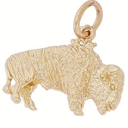 Gold Plate Buffalo Charm  by Rembrandt Charms