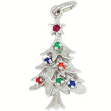 Sterling Silver Christmas Tree Charm by Rembrandt Charms