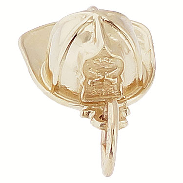 14k Gold Firefighter Helmet Charm by Rembrandt Charms