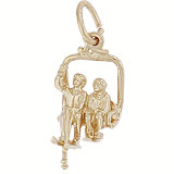 Gold Plated Ski Lift Charm by Rembrandt Charms