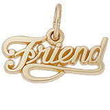 Gold Plated Friend Charm by Rembrandt Charms