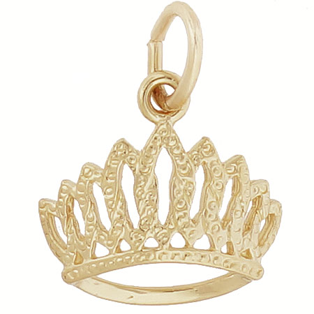 14k Gold Tiara Charm by Rembrandt Charms