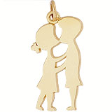 Gold Plated Boy and Girl First Kiss Charm by Rembrandt Charms