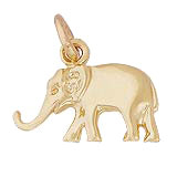 Gold Plate Small Elephant Charm by Rembrandt Charms