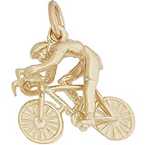 10k Gold Bicycle Cyclist Charm by Rembrandt Charms
