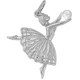Sterling Silver Ballet Dancer Charm by Rembrandt Charms