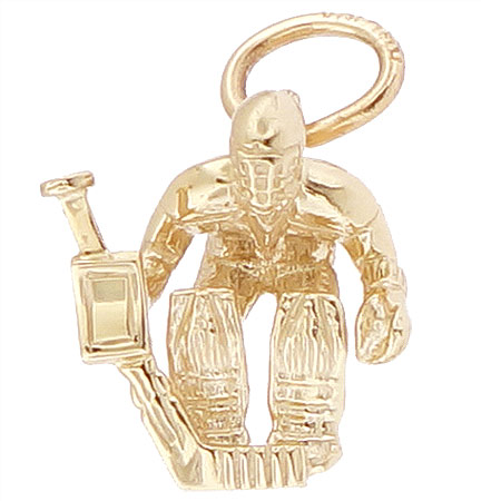 14K Gold Hockey Goalie Charm by Rembrandt Charms