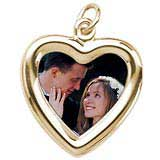 Gold Plated Small Heart PhotoArt® Charm by Rembrandt Charms