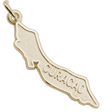 14K Gold Curacao Island Map Charm by Rembrandt Charms