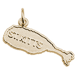 14K Gold St. Kitts Island Map Charm by Rembrandt Charms