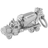 14K White Gold Cement Truck Charm by Rembrandt Charms