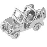 14k White Gold Off Road Vehicle Charm by Rembrandt Charms