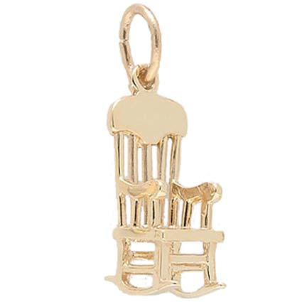 14K Gold Rocking Chair Charm by Rembrandt Charms