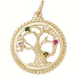 10K Gold Tree of Life Charm Select Stones by Rembrandt Charms
